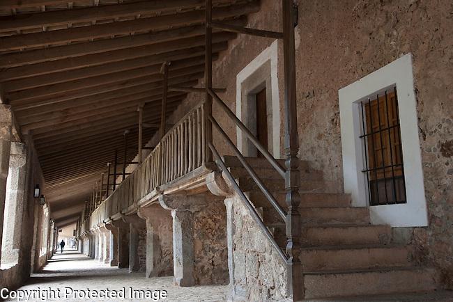 Rooms of Lluc Monastery, Majorca, Spain