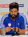 The Hague, Netherlands, June 12: Head coach Max Caldas of The Netherlands during press conference after the field hockey semi-final match (Women) between The Netherlands and Argentina on June 12, 2014 during the World Cup 2014 at Kyocera Stadium in The Hague, Netherlands. Final score 4-0 (3-0)  (Photo by Dirk Markgraf / www.265-images.com) *** Local caption ***