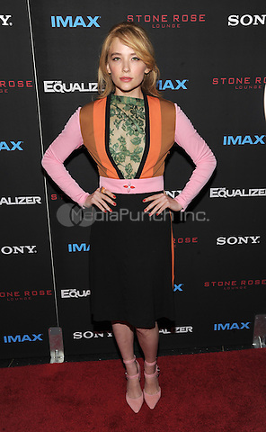 New York, NY-September 22: Actress Haley Bennett attends a special screening of The Equalizer at the AMC Lincoln Square 13 IMAX on September 22, 2014 in New York City.  Credit: John Palmer/MediaPunch