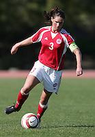 MAR 11, 2006: Quarteira, Portugal:  Denmark defender Katrine Pedersen