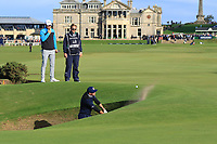 Kevin Pieterson (AM) playing with Bernd Wiesberger (AUT) on the 17th during Round 3 of the Alfred Dunhill Links Championship 2019 at St. Andrews Golf CLub, Fife, Scotland. 28/09/2019.<br /> Picture Thos Caffrey / Golffile.ie<br /> <br /> All photo usage must carry mandatory copyright credit (© Golffile | Thos Caffrey)