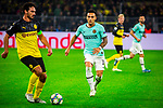 05.11.2019, Signal Iduna Park, Dortmund , GER, Champions League, Gruppenphase, Borussia Dortmund vs Inter Mailand, UEFA REGULATIONS PROHIBIT ANY USE OF PHOTOGRAPHS AS IMAGE SEQUENCES AND/OR QUASI-VIDEO<br /> <br /> im Bild | picture shows:<br /> Mats Hummels (Borussia Dortmund #15) mit Lautaro Martinez (Inter #10),<br /> <br /> Foto © nordphoto / Rauch