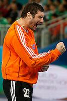 19.01.2013 World Championshio Handball. Match between Spain vs Croatia (25-27) at the stadium La Caja Magica. The picture show Mirko Alilovic (Goalkeeper of Croatia)