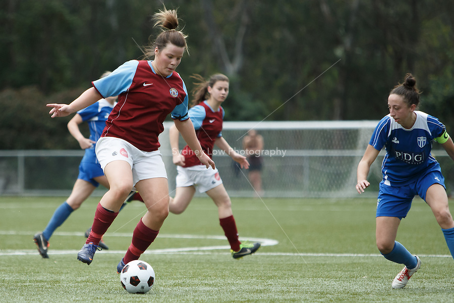 Action in the grand final of the 2013 Women's Premier League at the Veneto Club, Bulleen. Photo Sydney Low.