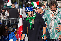 """Rome, 19/10/2019. Today, tens thousands of people (200,000 for the organisers, 50,000 for the police) gathered in Piazza San Giovanni to attend the national demonstration """"Orgoglio Italiano"""" (Italian Pride) of the far-right party Lega (League) of Matteo Salvini. The demonstration was supported by Silvio Berlusconi's party Forza Italia and Giorgia Meloni's party Fratelli d'Italia (Brothers of Italy, right-wing).  <br /> The aim of the rally was to protest against the Italian coalition Government (AKA Governo Conte II, Conte's Second Government, Governo Giallo-Rosso, 1.) lead by Professor Giuseppe Conte. The 66th Government of Italy is a coalition between Five Star Movement (M5S, 2.), Democratic Party (PD – Center Left, 3.), and Liberi e Uguali (LeU – Left, 4.), these last two parties replaced Lega / League as new members of a coalition based on Parliamentarian majority as stated in the Italian Constitution. The Governo Conte I (Conte's First Government, 5.) was 14-month-old when, between 8 and 9 of August 2019, collapsed after the Interior Minister Matteo Salvini withdrew his euroskeptic, anti-migrant, right-wing Lega / League (6.) from the populist coalition in a pindaric attempt (miserably failed) to trigger a snap election.<br /> <br /> Footnotes & Links:<br /> 1. http://bit.do/feK6N<br /> 2. http://bit.do/e7JLx<br /> 3. http://bit.do/e7JKy<br /> 4. http://bit.do/e7JMP<br /> 5. http://bit.do/e7JH7<br /> 6. http://bit.do/eE7Ey<br /> https://www.leganord.org<br /> http://bit.do/feK9X (Source, TheGuardian.com)<br /> Reportage: """"La Fabbrica Della Paura"""" (The Factory of Fear): http://bit.do/feLcy (Source Report, Rai.it - ITA)<br /> (Update) Reportage: """"La Fabbrica Social Della Paura"""" (The Social Network Factory of Fear): http://bit.do/fe8Pn (Source Report, Rai.it - ITA)"""