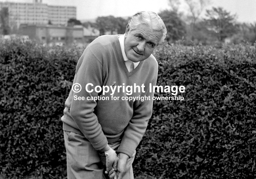 Fred Daly, professional golfer and golf professional at Balmoral Golf Club, Belfast, N Ireland, UK. He is best remembered for winning the Open Championship in 1947 at the Royal Liverpool Golf Club, Hoylake. Daly was born in Portrush, County Antrim. He was the only Irishman from either side of the border to have won The Open until Pádraig Harrington won it in 2007. 197206000370..Copyright Image from Victor Patterson, 54 Dorchester Park, Belfast, UK, BT9 6RJ..Tel: +44 28 9066 1296.Mob: +44 7802 353836.Voicemail +44 20 8816 7153.Skype: victorpattersonbelfast.Email: victorpatterson@mac.com.Email: victorpatterson@ireland.com (back-up)..IMPORTANT: If you wish to use this image or any other of my images please go to www.victorpatterson.com and click on the Terms & Conditions. Then contact me by email or phone with the reference number(s) of the image(s) concerned.