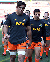 Pablo Matera (captain) of the Jaguares during the Super Rugby quarter-final match between the Emirates Lions and the Jaguares at the Emirates Airlines Park Stadium,Johannesburg, South Africa on Saturday, 21 July 2018. Photo: Steve Haag / stevehaagsports.com