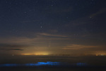 """WEATHER INPUT - Bioluminescent plankton spotted in British waters off Kent coast.<br /> <br /> Warmer weather is believed to be the cause of luminous blue waves lighting up the sea at Littlestone, Romney Marsh, Kent. The glow is from Bioluminescent plankton, tiny organisms, which glow when they are disturbed by waves or currents as a defence mechanism to draw predators towards the creatures trying to eat the plankton.<br /> <br /> Susan Pilcher, 48, who lives five mintues from the beach said, """"I have lived on Romney Marsh since 1981 and I personally have never seen this before, I think it is quite rare in these waters""""<br /> <br /> """"They are normally seen in warmer coastal waters, but I've spotted them a couple of times lighting up the sea at Littlestone this last week.""""<br /> <br /> """"Initially I thought I was going mad and seeing things or thought it might be an odd street light reflection on the water""""<br /> <br /> Please byline: Susan Pilcher/Solent News<br /> <br /> © Susan Pilcher/Solent News & Photo Agency<br /> UK +44 (0) 2380 458800"""