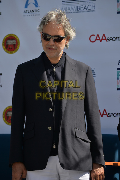 MIAMI BEACH, FL - FEBRUARY 16: Andrea Bocelli attend Miami Beach Announces Headline Performers for Mega Centennial Concert Celebration at New World Center on February 16, 2015 in Miami Beach, Florida. <br /> CAP/MPI/mpi10<br /> &copy;mpi10/MPI/Capital Pictures