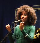 Esperanza Spalding performing at The Orpheum Theater, Boston Massachusetts,