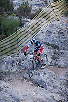 Chelva, SPAIN - MARCH 6: Jose Maria Fernandez during Spanish Open BTT XCO on March 6, 2016 in Chelva, Spain