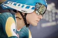 Emma Johanssen (SWE) on the start ramp<br /> <br /> Women TT<br /> UCI Road World Championships / Richmond 2015