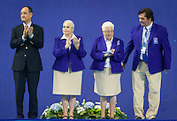 From L to R<br /> QIUPING ZHANG FINA TSSC<br /> TUDINI Stefania FINA TSSC<br /> VIRGINIA JASONTEK FINA TSSC<br /> IGOR KARTASHOV FINA TSSC<br /> Team Free Final<br /> Day8 10/07/2015<br /> XVI FINA World Championships Aquatics<br /> Synchro<br /> Kazan Tatarstan RUS July 24 - Aug. 9 2015 <br /> Photo Pasquale Mesiano/Deepbluemedia/Insidefoto