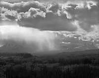 &quot;Distant Rainstorm in Denali National Park&quot; Alaska <br />
