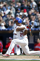 Adrian Beltre of the Dominican Republic during semi final game against Cuba during the World Baseball Championships at Petco Park in San Diego,California on March 18, 2006. Photo by Larry Goren/Four Seam Images