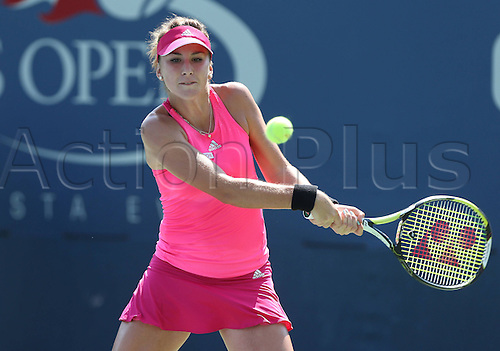 27.08.2014. Flushing Meadows, NY, USA. Day 3 of the US Open championships. US Open 2014, USTA Billie Jean King National Tennis Center, Flushing Meadows, New York,ITF Grand Slam Tennis Tournament, Belinda Bencic (SUI)