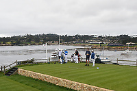 Tommy Fleetwood (ENG) looks over his tee shot on 7 during round 2 of the 2019 US Open, Pebble Beach Golf Links, Monterrey, California, USA. 6/14/2019.<br /> Picture: Golffile | Ken Murray<br /> <br /> All photo usage must carry mandatory copyright credit (© Golffile | Ken Murray)