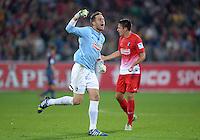 Fussball  1. Bundesliga  Saison 2013/2014  4. Spieltag SC Freiburg - FC Bayern Muenchen        27.08.2013 JUBEL Torwart Oliver Baumann (SC Freiburg)