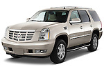 Front three quarter view of a 2013 Cadillac Escalade AWD SUV.