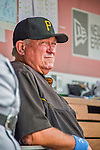 21 June 2015: Pittsburgh Pirates Manager Clint Hurdle looks out to the field from the dugout prior to a game against the Washington Nationals at Nationals Park in Washington, DC. The Nationals defeated the Pirates 9-2 to sweep their 3-game weekend series, and improve their record to 37-33. Mandatory Credit: Ed Wolfstein Photo *** RAW (NEF) Image File Available ***