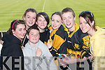 COLOURS: Wearing the black and amber of the Crokes team at the All Ireland Club Final in Portlaoise on Sunday were Hannah OShea, Laura Moloney, Sarah Brosnan, Anthony Cronin, Ciara OShea, Conor McGill and Tracey Kerins. .