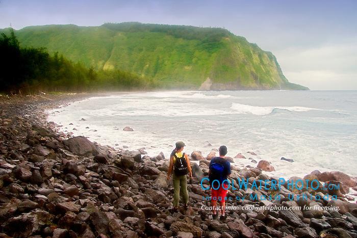 Waipi`o Beach, Big Island, Hawaii, Pacific Ocean
