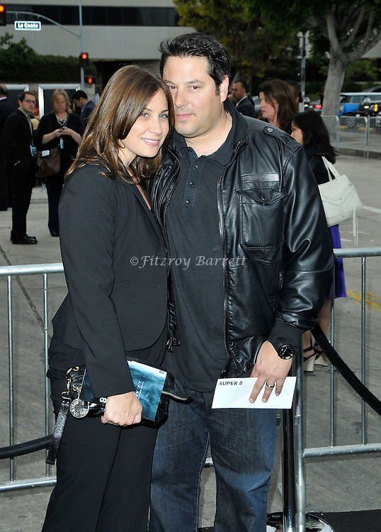Greg Grunberg and wife Elizabeth Wershow arriving at the Los Angeles premiere of Super 8, held at the Regency Village Theater, June 8, 2011. Fitzroy Barrett