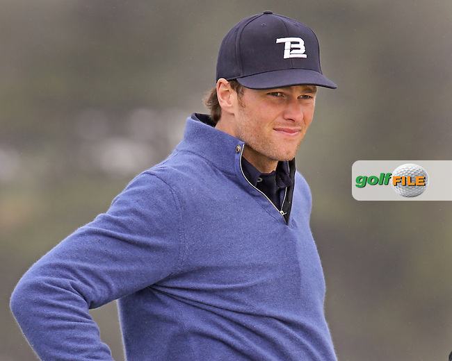 08 FEB 14 NFL Superstar Tom Brady on 7 during Saturday's Third Round of The AT&T Pebble Beach National Pro-Am at The Pebble Beach Golf Links in Carmel,California. photo credit :  (kenneth e. dennis/kendennisphoto.com)