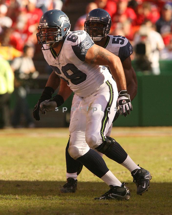 JOE TAFOYA, of the Seattle Seahawks in action against the Kansas City Chiefs on October 29, 2006 in Kansas City, MO...Chiefs win 35-28..Kevin Tanaka/ SportPics