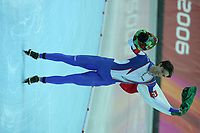SPEEDSKATING: TORINO: ITALIA: febr. 2006, Olympic Games, winnaar 1500m Enrico Fabris (ITA), ©photo Martin de Jong