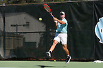 14 May 2016: Tulane's Dominik Koepfer (GER). The Tulane University Green Wave played the Dartmouth College Big Green at the Cone-Kenfield Tennis Center in Chapel Hill, North Carolina in a 2015-16 NCAA Division I Men's Tennis Tournament First Round match. Tulane won the match 4-0.