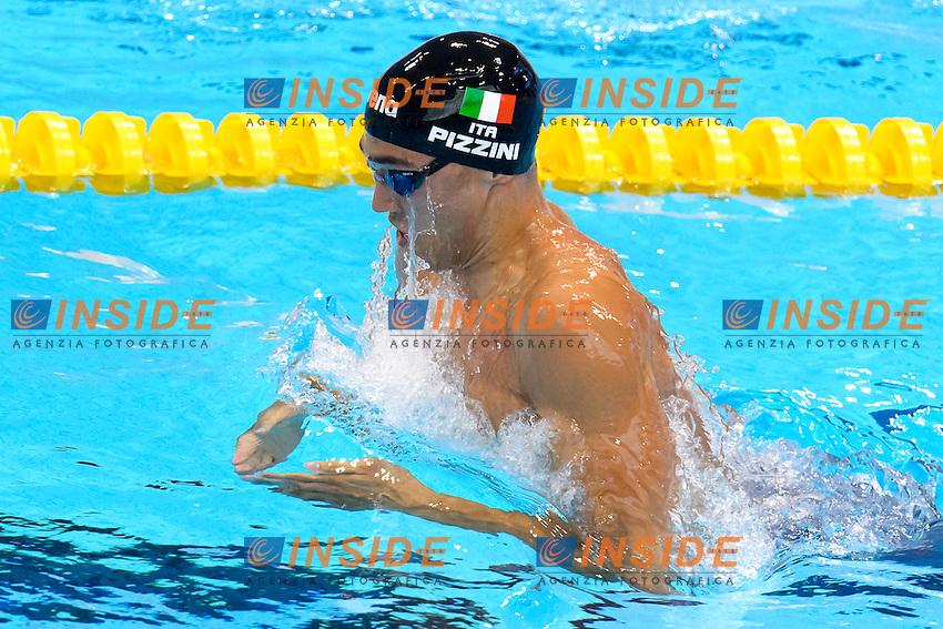 Luca PIZZINI ITA<br /> 200m Breaststroke Men Preliminary <br /> London, Queen Elizabeth II Olympic Park Pool <br /> LEN 2016 European Aquatics Elite Championships <br /> Swimming<br /> Day 10 18-05-2016<br /> Photo Andrea Staccioli/Deepbluemedia/Insidefoto