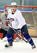 Dave Warsofsky (USA - 5) - Team USA practiced at the Agriplace rink on Monday, December 28, 2009, in Saskatoon, Saskatchewan, during the 2010 World Juniors tournament.