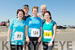 Front l-r Kirsty Novak,Bernice O'Sullivan and Ann McGlynn. Back l-r Tom Redmond and Dermot Dillane at the annual Ballyheigue Family Resource Centre Road Race & Fun Run on Sunday