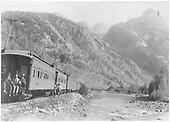 Mixed train near Garfield's Peak near Silverton, CO.<br /> D&amp;RG  Elk Park, CO  Taken by Carpenter, W. J.