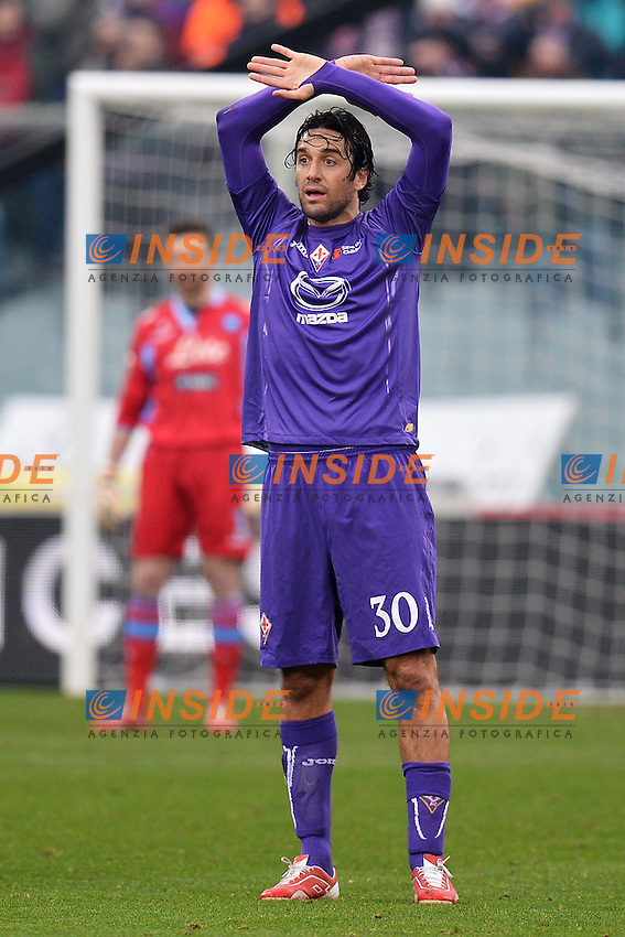 Luca Toni Fiorentina .Firenze 20/01/2013 Stadio Artemio Franchi.Football Calcio 2012/2013 Serie A.Fiorentina Vs Napoli 1-1.Foto Andrea Staccioli Insidefoto