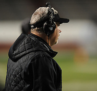 NWA Democrat-Gazette/ANDY SHUPE<br /> Fayetteville coach Daryl Patton watches against Har-Ber Saturday, Dec. 5, 2015, during the second half of the Class 7A state championship game at War Memorial Stadium in Little Rock. Visit nwadg.com/photos to see more photographs from the game.