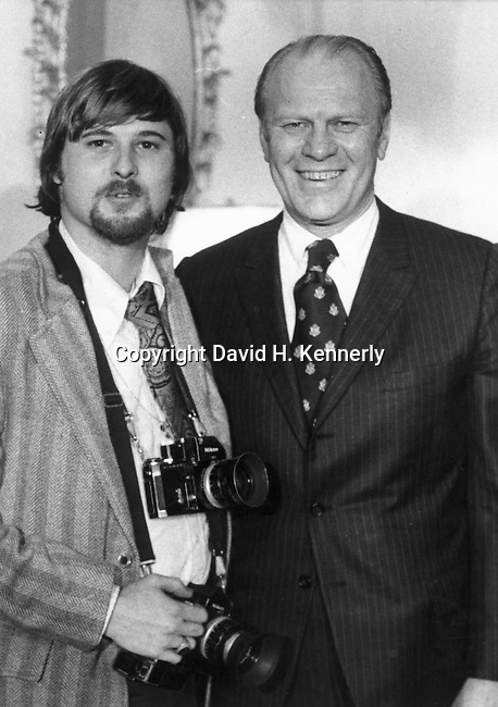 Ron Bennett White House Photgrapher with President Gerald Ford,  Ron Bennett Photojournalist, Ron Bennett and President Gerald Ford,
