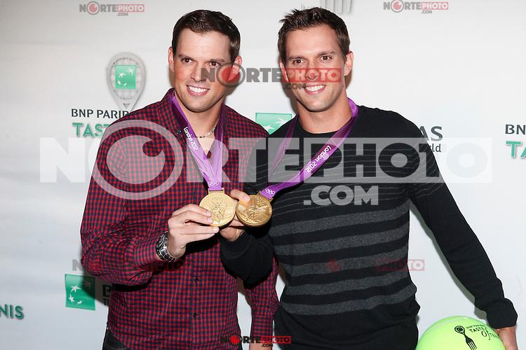 US Olympic Gold Medalists Bob and Mike Bryan attend the 13th Annual 'BNP Paribas Taste of Tennis' at the W New York.  New York City, August 23, 2012. &copy;&nbsp;Diego Corredor/MediaPunch Inc. /NortePhoto.com<br /> <br /> **SOLO*VENTA*EN*MEXICO**<br />  **CREDITO*OBLIGATORIO** *No*Venta*A*Terceros*<br /> *No*Sale*So*third* ***No*Se*Permite*Hacer Archivo***No*Sale*So*third*