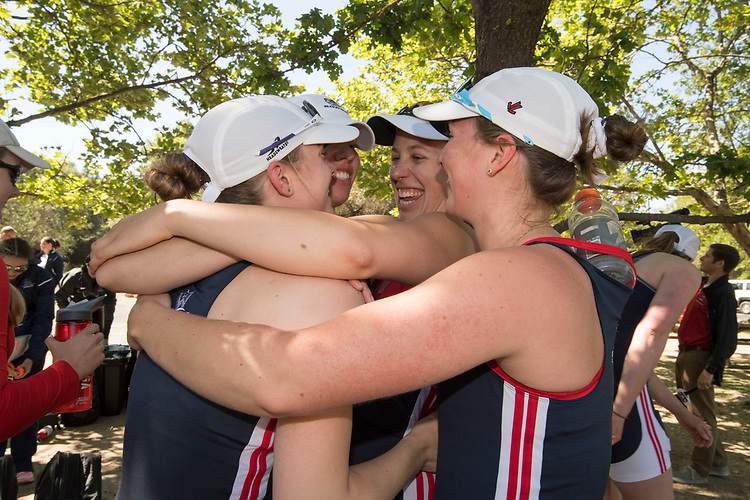 May 13, 2017; Gold River, CA, USA; Gonzaga Bulldogs during the WCC Rowing Championships at Lake Natoma.