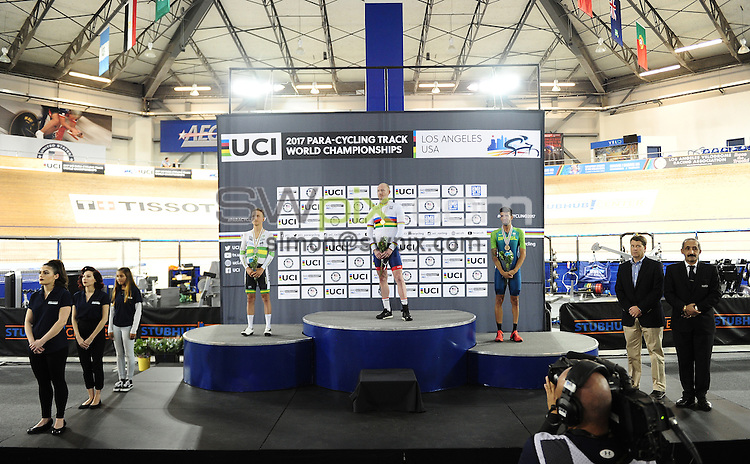 Picture by Simon Wilkinson/SWpix.com - 05/03/2017 - Cycling 2017 UCI Para-Cycling Track World Championships, Velosports Centre, Los Angeles USA - Men's Scratch Race.<br />