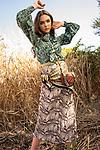 Sunday Mail Fashion with Mirella, Boho Inspired Fashion , on location Hallett cove . Photo: Nick Clayton