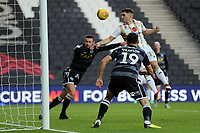 Jordan Moore-Taylor of MK Dons sees his goal ruled out for offside during MK Dons vs Macclesfield Town, Sky Bet EFL League 2 Football at stadium:mk on 17th November 2018