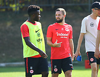Nelson Mandela Mbouhom (Eintracht Frankfurt) und Marc Stendera (Eintracht Frankfurt) - 05.09.2018: Eintracht Frankfurt Training, Commerzbank Arena, DISCLAIMER: DFL regulations prohibit any use of photographs as image sequences and/or quasi-video.
