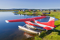 Bush planes at the small plane float pond, Fairbanks, Alaska