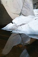 Ice cave reflections near Aspen
