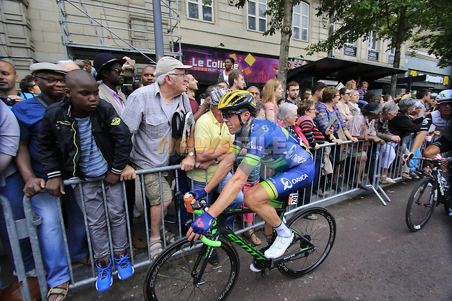 Simon Gerrans (AUS) Orica GreenEdge crosses the finish line of Stage 3 of the 2016 Tour de France, running 223.5km from Granville to Angers, France . 4th July 2016.<br /> Picture: Eoin Clarke | Newsfile<br /> <br /> <br /> All photos usage must carry mandatory copyright credit (&copy; Newsfile | Eoin Clarke)
