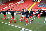 The Sheffield United Ladies team warm up prior to kick off during the FA Women's Cup First Round match at Bramall Lane Stadium, Sheffield. Picture date: December 4th, 2016. Pic Clint Hughes/Sportimage