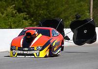 May 16, 2014; Commerce, GA, USA; NHRA pro mod driver Daniel Stevenson during qualifying for the Southern Nationals at Atlanta Dragway. Mandatory Credit: Mark J. Rebilas-USA TODAY Sports