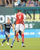 Portland Timbers vs Los Angeles Galaxy during the MLS competition at Jeld-Wen Field, Portland Oregon, August 3, 2011.  The Portland Timbers defeated the LA Galaxy 3-0.